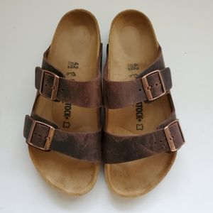 Birkenstock Arizona Habana Leather Sandals 42